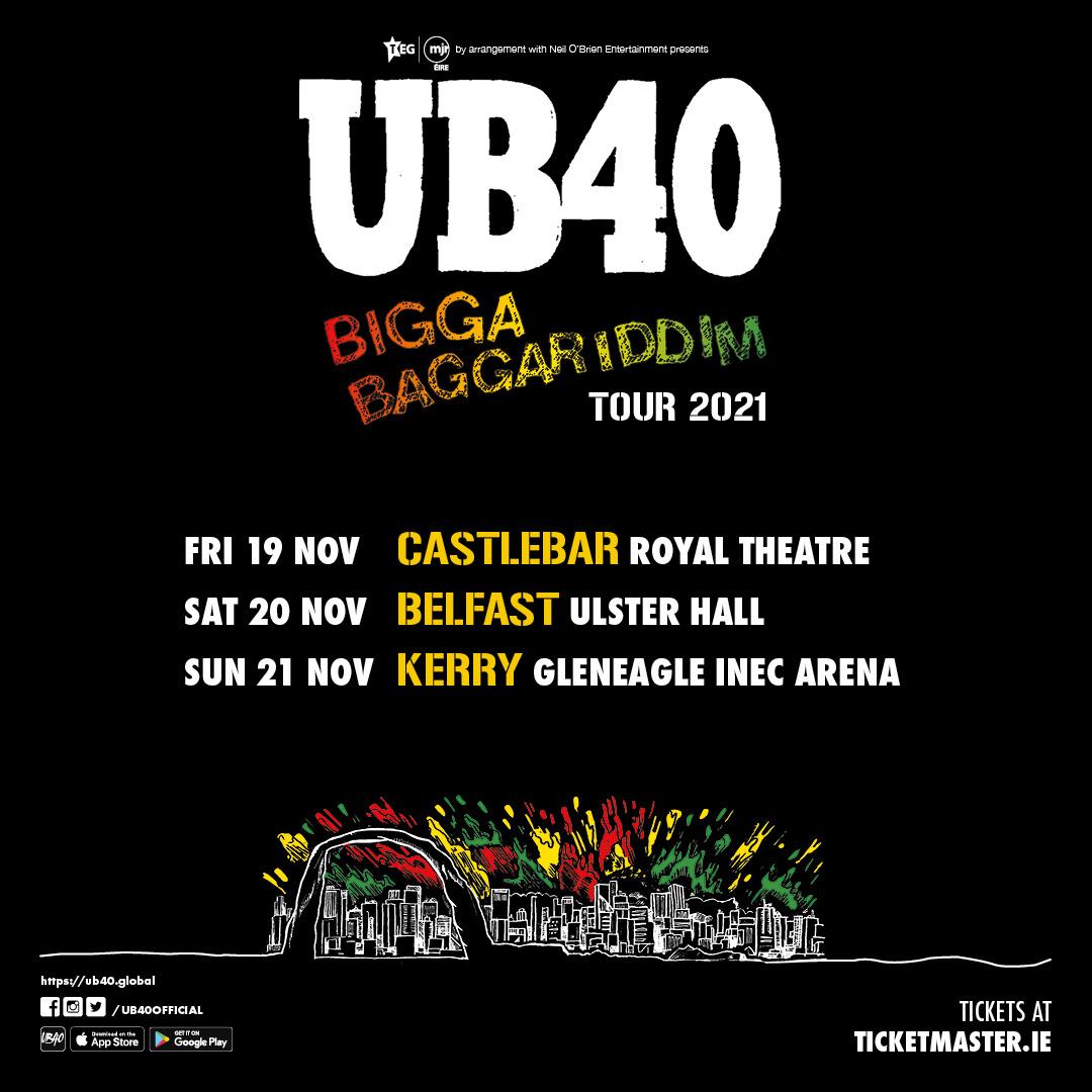 UB40 Bigga Baggariddim Tour 2021